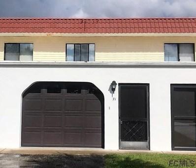 71 S Ocean Palm Drive UNIT 71, Flagler Beach, FL 32136 - MLS#: 240278