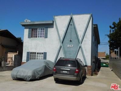 857 W 58TH Street, Los Angeles, CA 90037 - MLS#: 17277270