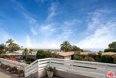811 El Oro Lane, Pacific Palisades, CA 90272 - MLS#: 17281508