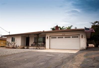 1791 S S Redwood St, Escondido, CA 92025 - MLS#: 180061012