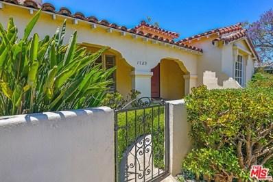 1729 S WOOSTER Street, Los Angeles, CA 90035 - MLS#: 18355922
