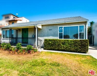 4251 W 63RD Street, Los Angeles, CA 90043 - MLS#: 18369040