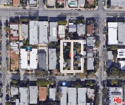 7611 HAMPTON Avenue, West Hollywood, CA 90046 - MLS#: 18383644