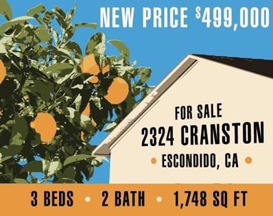 2324 Cranston Dr, Escondido, CA 92025 - MLS#: 190004432