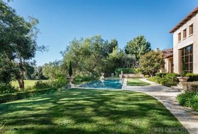 18330 Calle La Serra, Rancho Santa Fe, CA 92091 - MLS#: 190007923