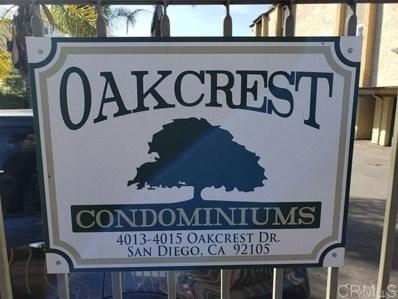 4013 OAKCREST DRIVE UNIT 5, San Diego, CA 92105 - MLS#: 190045119