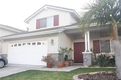 449 Lupine Way, Oceanside, CA 92057 - MLS#: 200021080