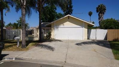 3602 Santa Luna Ct, San Marcos, CA 92078 - MLS#: 200023900