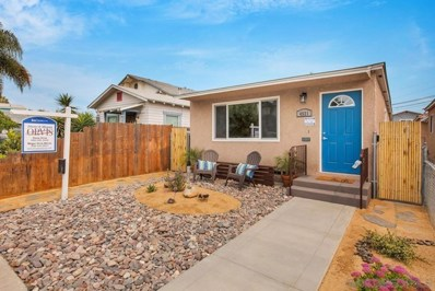 4521 37th STREET, San Diego, CA 92116 - MLS#: 200050117