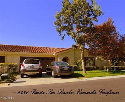 2331 Placita San Leandro, Camarillo, CA 93010 - MLS#: 218003017
