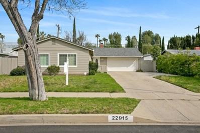 22915 Burton Street, West Hills, CA 91304 - MLS#: 219003145