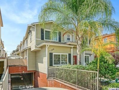 338 Milford Street UNIT 105, Glendale, CA 91203 - MLS#: 318003679