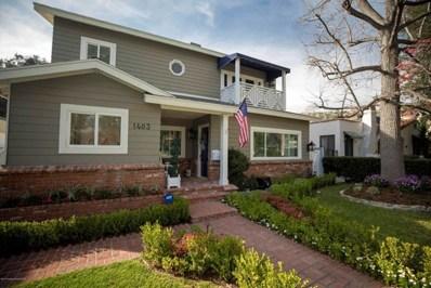1403 Linda Vista Avenue, Pasadena, CA 91103 - MLS#: 818000510