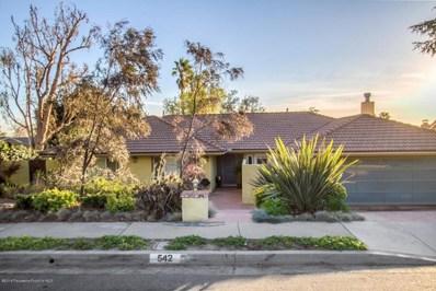 542 Alta Pine Drive, Altadena, CA 91001 - MLS#: 818000569