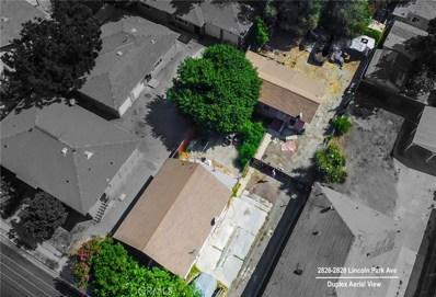 2826 Lincoln Park Avenue, Los Angeles, CA 90031 - MLS#: AR19003655