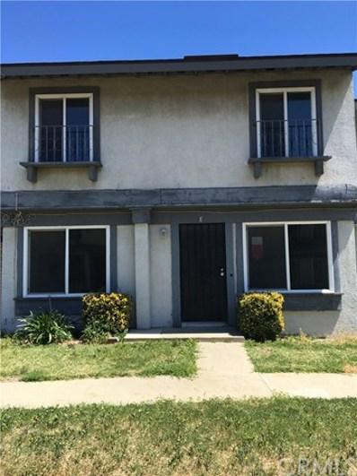 16840 Village Lane UNIT E, Fontana, CA 92336 - MLS#: CV18091433