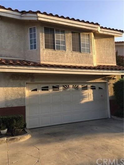 4335 Merced Avenue UNIT 1\/2, Baldwin Park, CA 91706 - MLS#: CV18232979