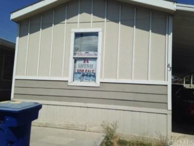 721 E 9th Street UNIT 63, San Bernardino, CA 92410 - MLS#: CV19002953