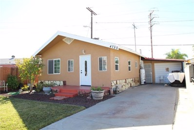 4750 E 52nd Place, Maywood, CA 90270 - MLS#: CV19011617