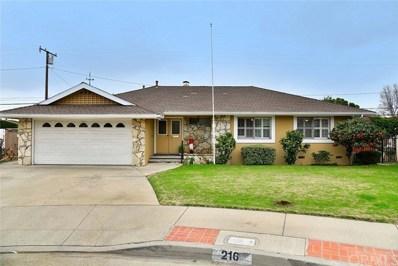 216 S Homerest Avenue, Covina, CA 91722 - MLS#: CV19044475