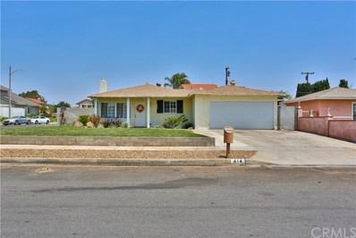 414 W Woodcrest Street, Rialto, CA 92376 - MLS#: CV19162761