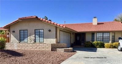 17858 Canyon Meadow Road, Victorville, CA 92395 - MLS#: EV18225619