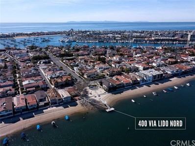 400 Via Lido Nord, Newport Beach, CA 92663 - MLS#: NP18022296