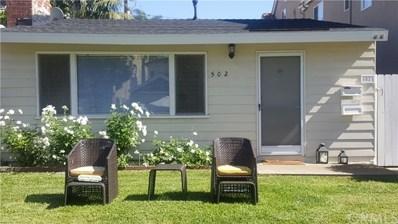 502 Marigold Avenue, Corona del Mar, CA 92625 - MLS#: NP18147288