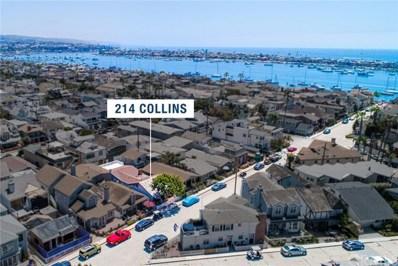 214 Collins Avenue, Newport Beach, CA 92662 - MLS#: NP19010895