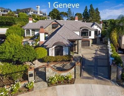 1 Geneve, Newport Beach, CA 92660 - MLS#: NP19183606