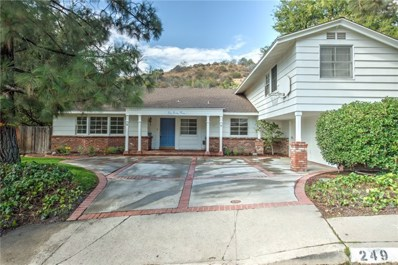 249 Sleepy Hollow Terrace, Glendale, CA 91206 - MLS#: OC17199182