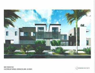 418 Fernleaf Avenue, Corona del Mar, CA 92625 - MLS#: OC17261783