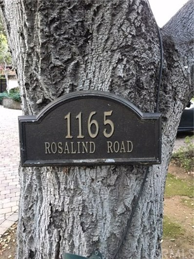 1165 Rosalind Road, San Marino, CA 91108 - MLS#: OC18084741