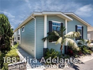 188 Mira Adelante, San Clemente, CA 92673 - MLS#: OC18137481