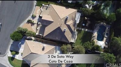 3 De Soto Way, Coto de Caza, CA 92679 - MLS#: OC18191771
