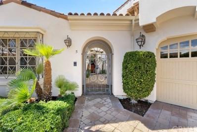 5 Castillo Del Mar, Dana Point, CA 92624 - MLS#: OC18280746