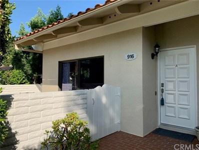 916 Avenida Majorca UNIT A, Laguna Woods, CA 92637 - MLS#: OC20149052