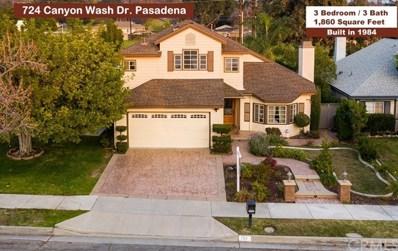 724 Canyon Wash Drive, Pasadena, CA 91107 - MLS#: PF20011643