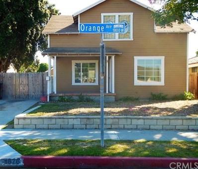 1876 W Orange Avenue, Anaheim, CA 92804 - MLS#: PW17262226