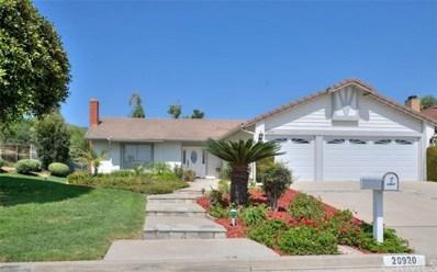 20920 Quail Circle, Yorba Linda, CA 92886 - MLS#: PW18221639