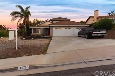 6670 Condor Drive, Riverside, CA 92509 - MLS#: PW18254964