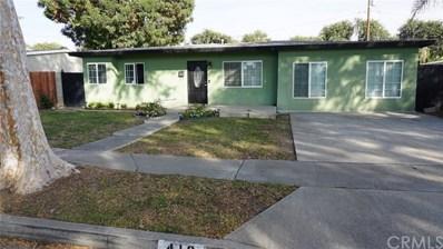 416 N Locust Drive, Fullerton, CA 92833 - MLS#: PW18255179