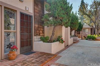 1048 Cabrillo Park Drive UNIT D, Santa Ana, CA 92701 - MLS#: PW19011515