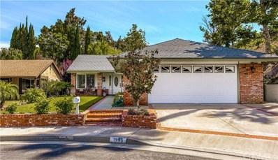 1995 N Sunwood Lane, Anaheim Hills, CA 92807 - MLS#: PW19137042