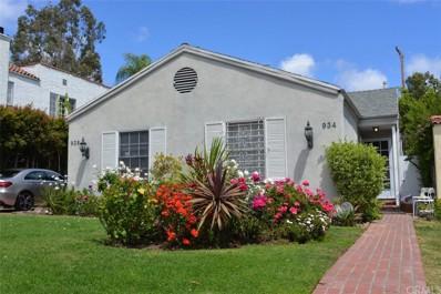 934 N La Jolla Avenue, West Hollywood, CA 90046 - MLS#: PW21095328