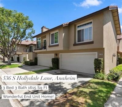 536 S Hollydale Lane, Anaheim Hills, CA 92808 - MLS#: RS18163810