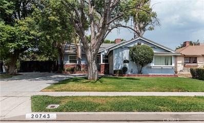 20743 Bassett Street, Winnetka, CA 91306 - MLS#: SR17206601