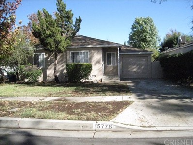 5778 Bertrand Avenue, Encino, CA 91316 - MLS#: SR17261105