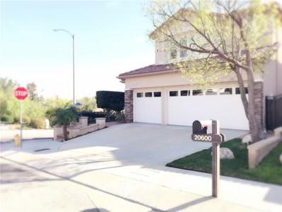 20600 Vercelli Way, Porter Ranch, CA 91326 - MLS#: SR18016936