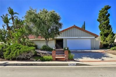 18751 Lisburn Place, Porter Ranch, CA 91326 - MLS#: SR18116706